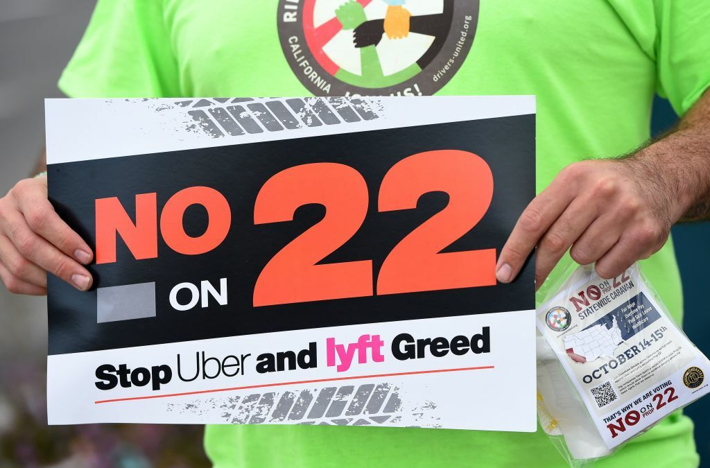 The fight against Prop. 22 continues.