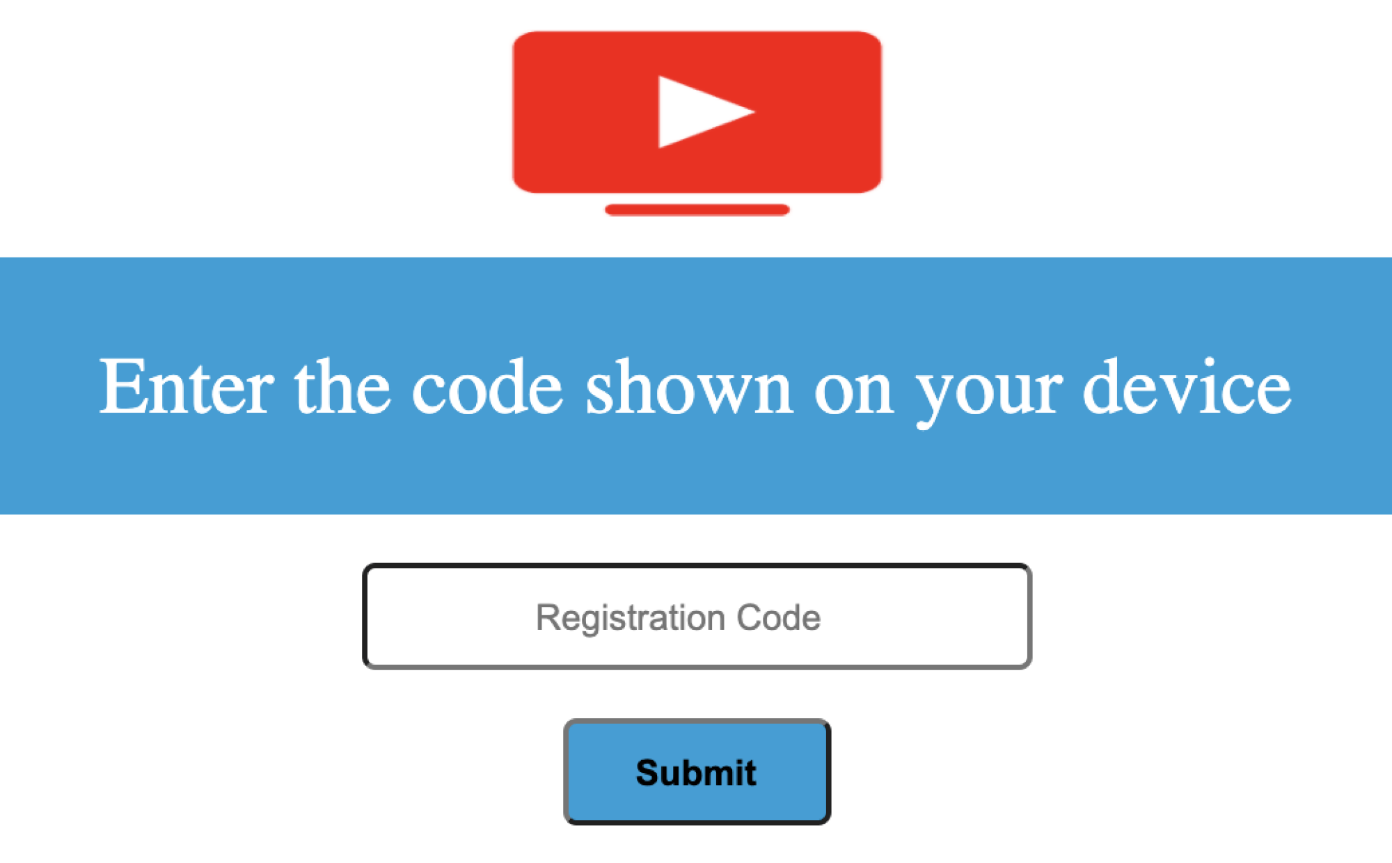 A screenshot of the fake website's activation code screen.