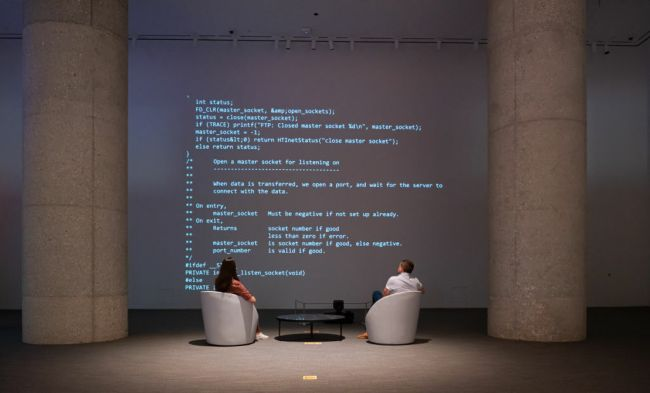Sir Tim Berners-Lee auctions the source code for the World Wide Web as an NFT at Sotheby's on June 29, 2021 in New York City.