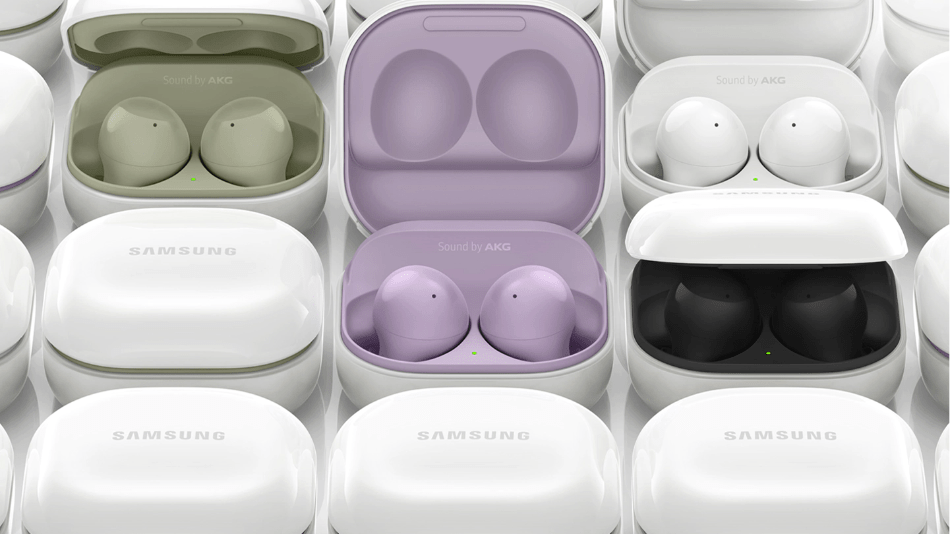 The Samsung Galaxy Buds 2, pictured here, are available on Amazon and Samsung's website ahead of the Aug. 27 release.