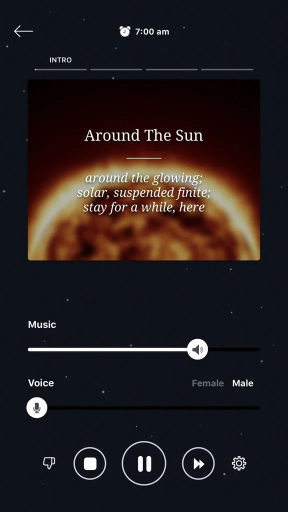 Pzizz will lull you to sleep with some really soothing music that fades out over time.