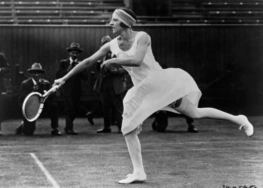 French tennis player Suzanne Lenglen refused to wear a corset while competing.