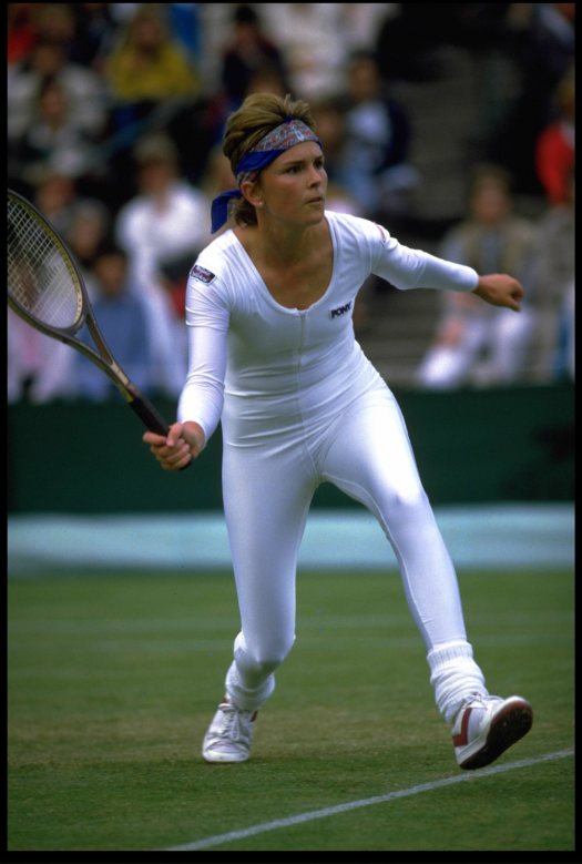 Anne White shocked Wimbledon with her white bodysuit.