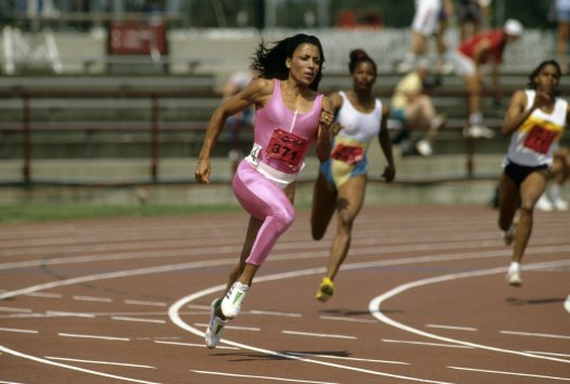 Track star Florence Griffith Joyner was lightning fast and fashionable.