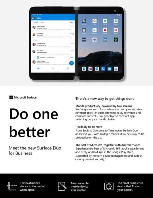 Do one better – Meet the new Surface Duo for Business