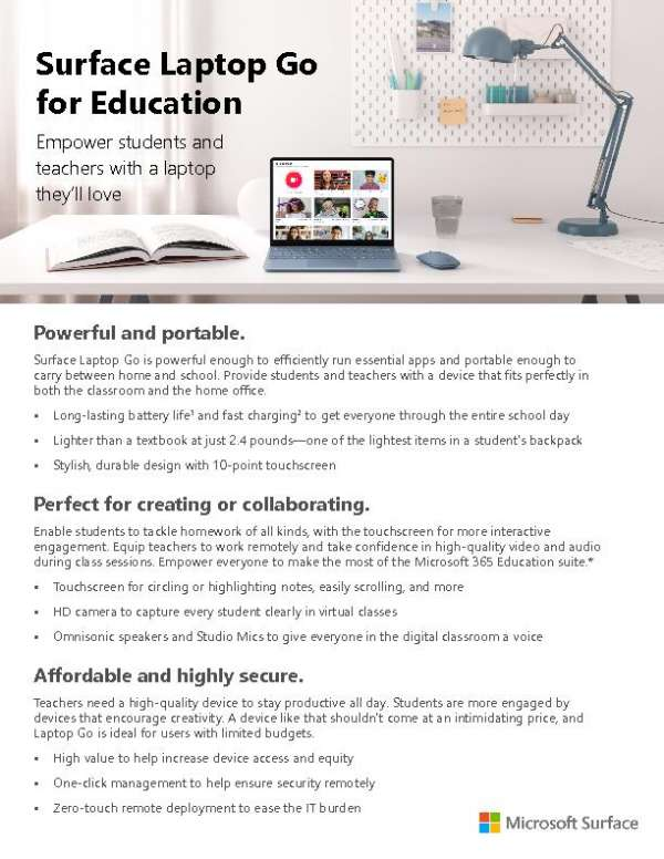 Surface Laptop Go for Education