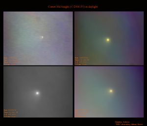 Εικόνα του P1 McNaught στις 16 Ιανουαρίου 2007, από τον Δημήτρη Κολοβό.
