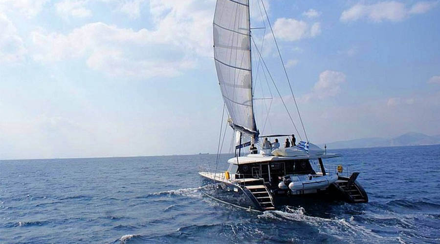 ANASSA - Crewed Catamaran for Charter in Greece- HELLAS YACHTING
