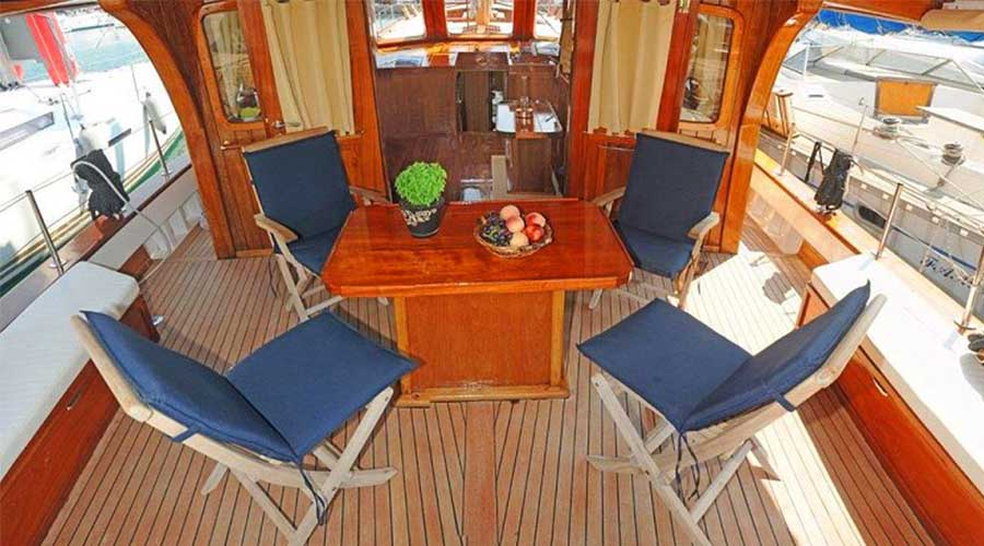 AEGEAS - Motor Sailer for Charter in Greece - HELLAS YACHTING