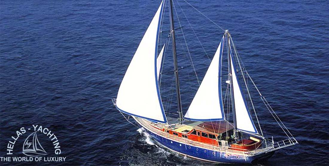 ALMYRA - Charter Motor Sailer in Greece - HELLAS YACHTING