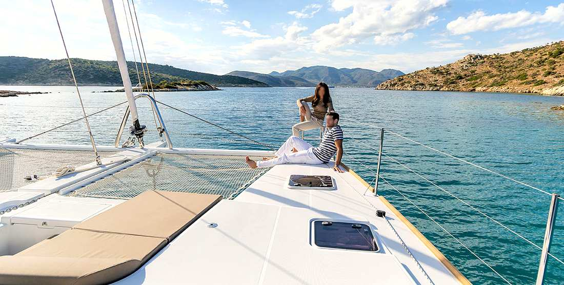 BOOM - Crewed Charter Catamaran Greece - HELLAS YACHTING