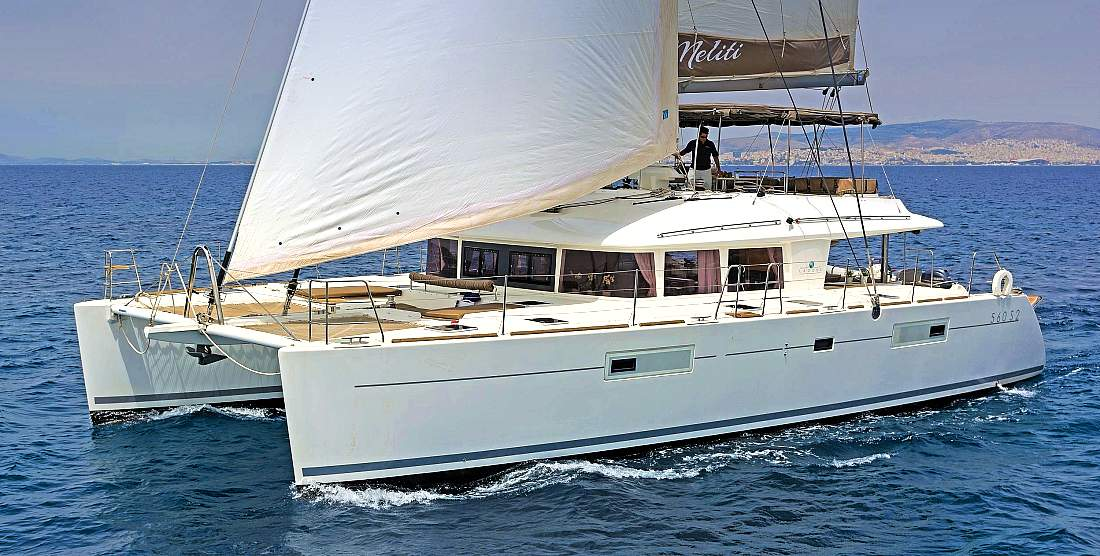 MELITI - Crewed Charter Catamaran in Greece - HELLAS YACHTING