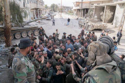 Ο Μπασάρ αλ Άσαντ στην ανατολική Γούτα Πηγή: via Twitter