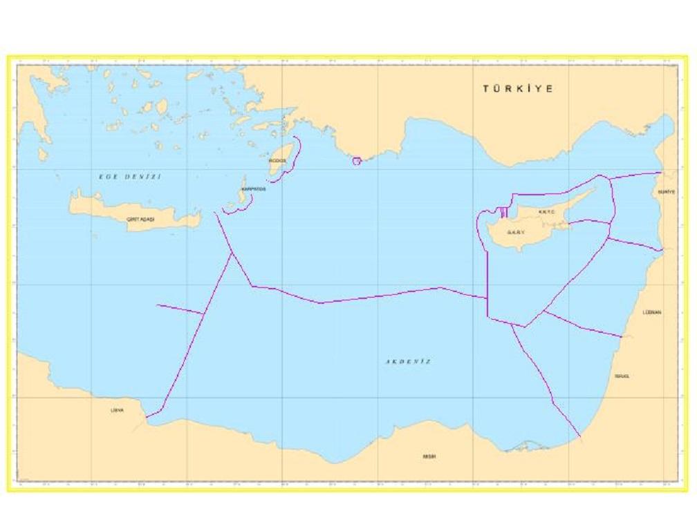 Τουρκικός χάρτης με την ΑΟΖ όπως η ίδια την ...βλέπει.