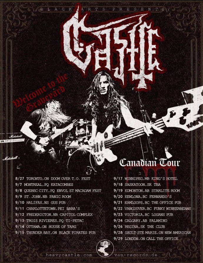 Castle Canadian tour dates 2016