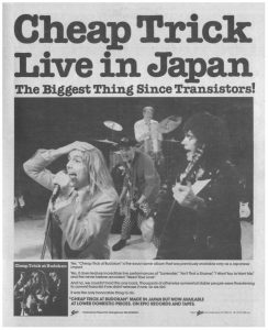 cheap trick live in japan flyer