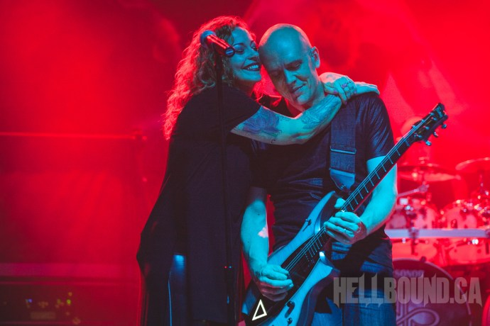 Anneke van Giersbergen and Devin Townsend at ProgPower 2016