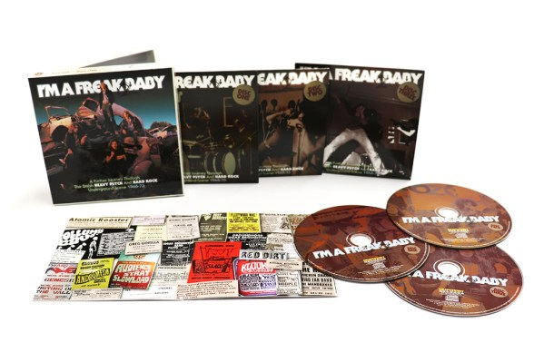 I'm A Freak 2 Baby: A Further Journey through The British Heavy Psych & Hard Rock Underground Scene 1968-73, Various Artists 3CD CLAMSHELL Boxset