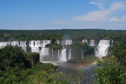 Our first view of the falls from the Brasilian side