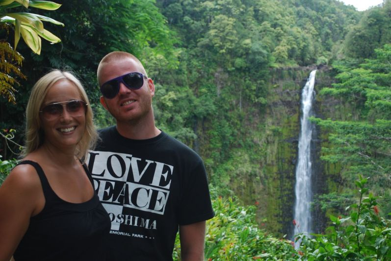 Martin and me in front of Akaka Falls