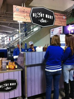 Bloody Mary Bar inside Ford Field