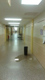 (May 12, 2016-during the school day, active hallway.)