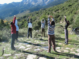 Qi Gong on the mountain Greece