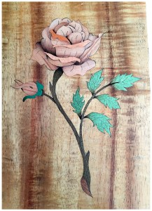 Piece by Piece marquetry work
