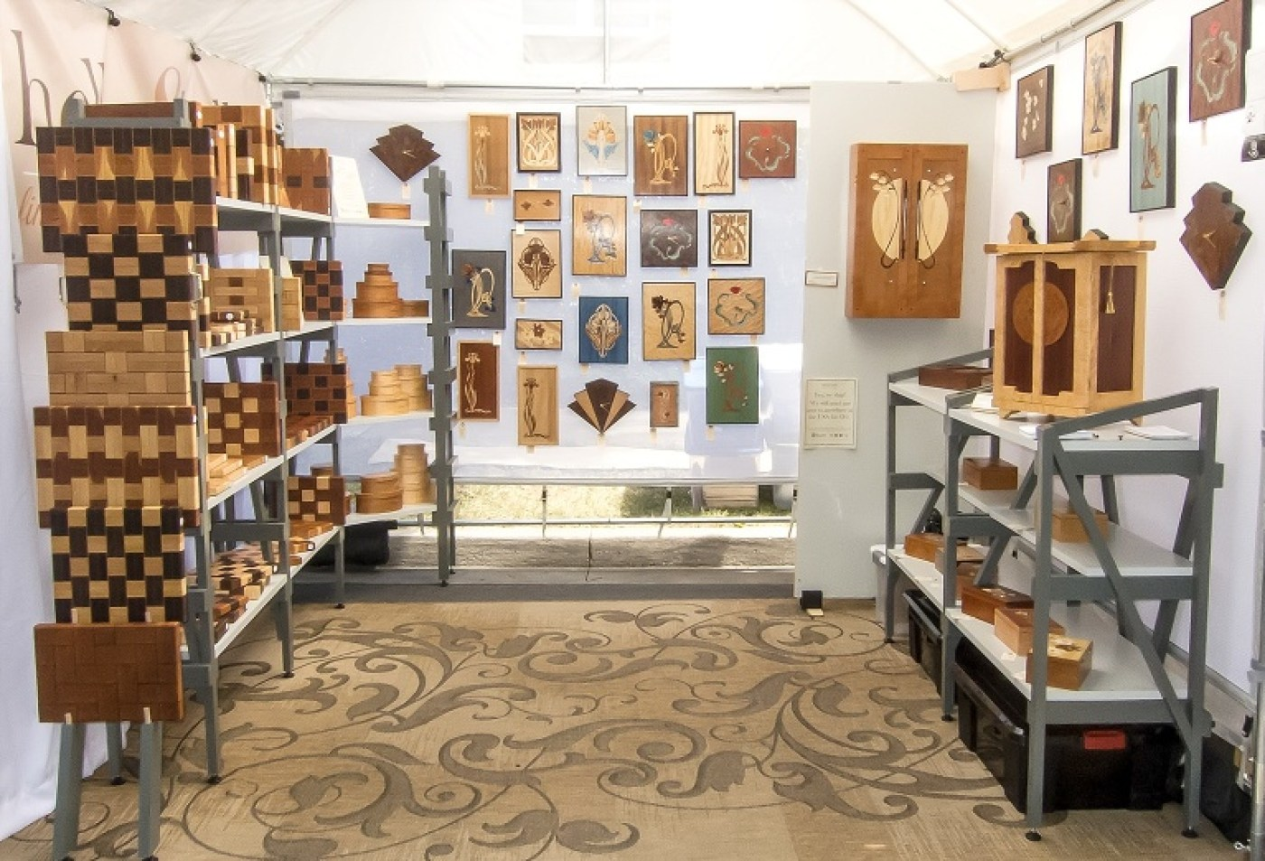 A view of our patterened wooden wares   Heller and Heller Furniture