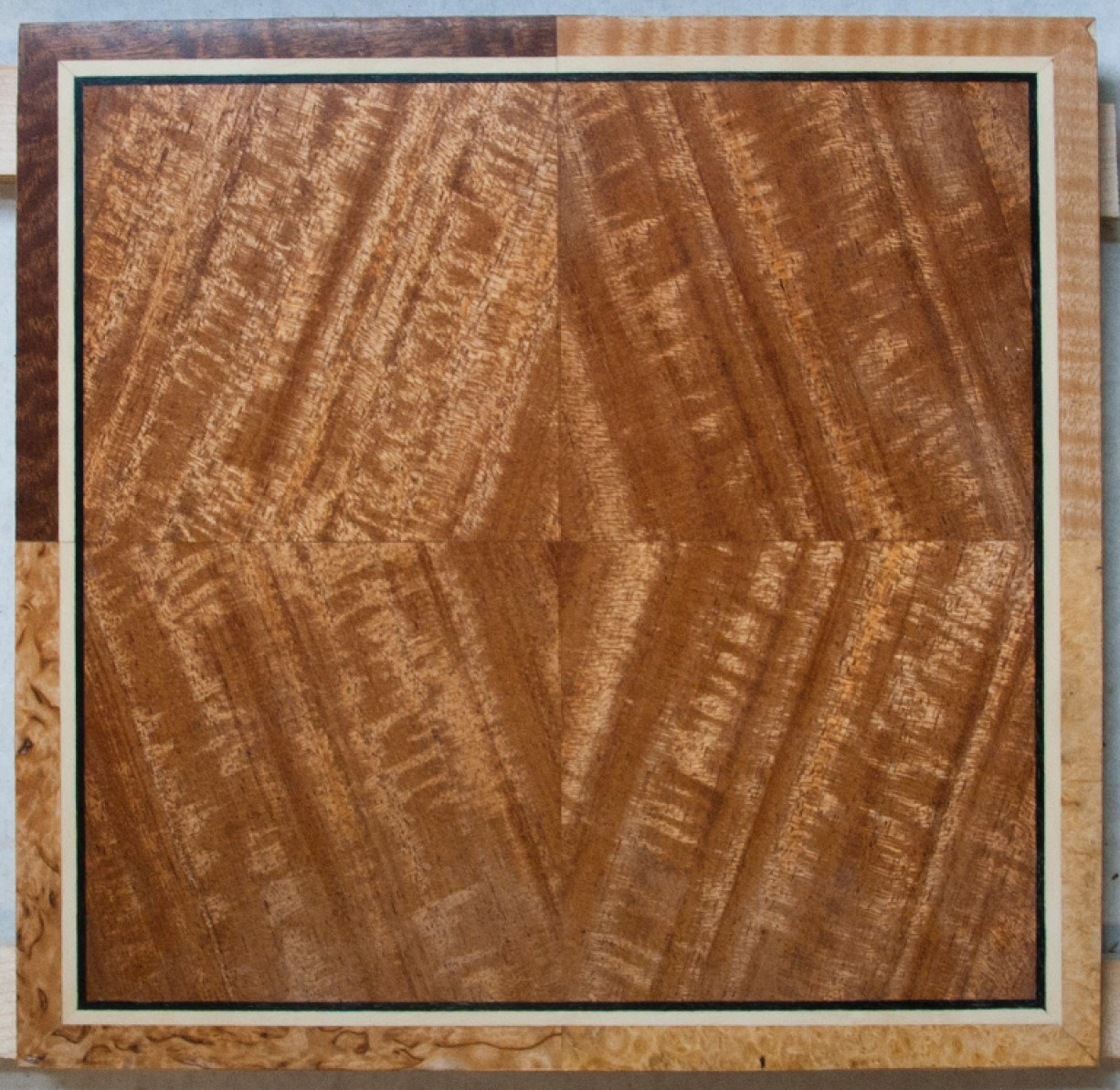 Four way veneer matching | Take home panel from the class | Heller & Heller Custom Furniture