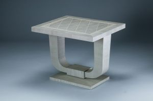 Heller & Heller Furniture | silver sycamore art deco table