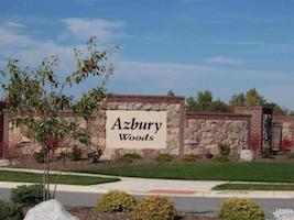 A picture of the entrance sign for Azbury Woods Communities