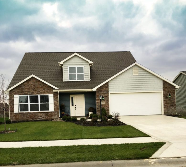 A picture of Heller Homes Riley Floor Plan front Elevation