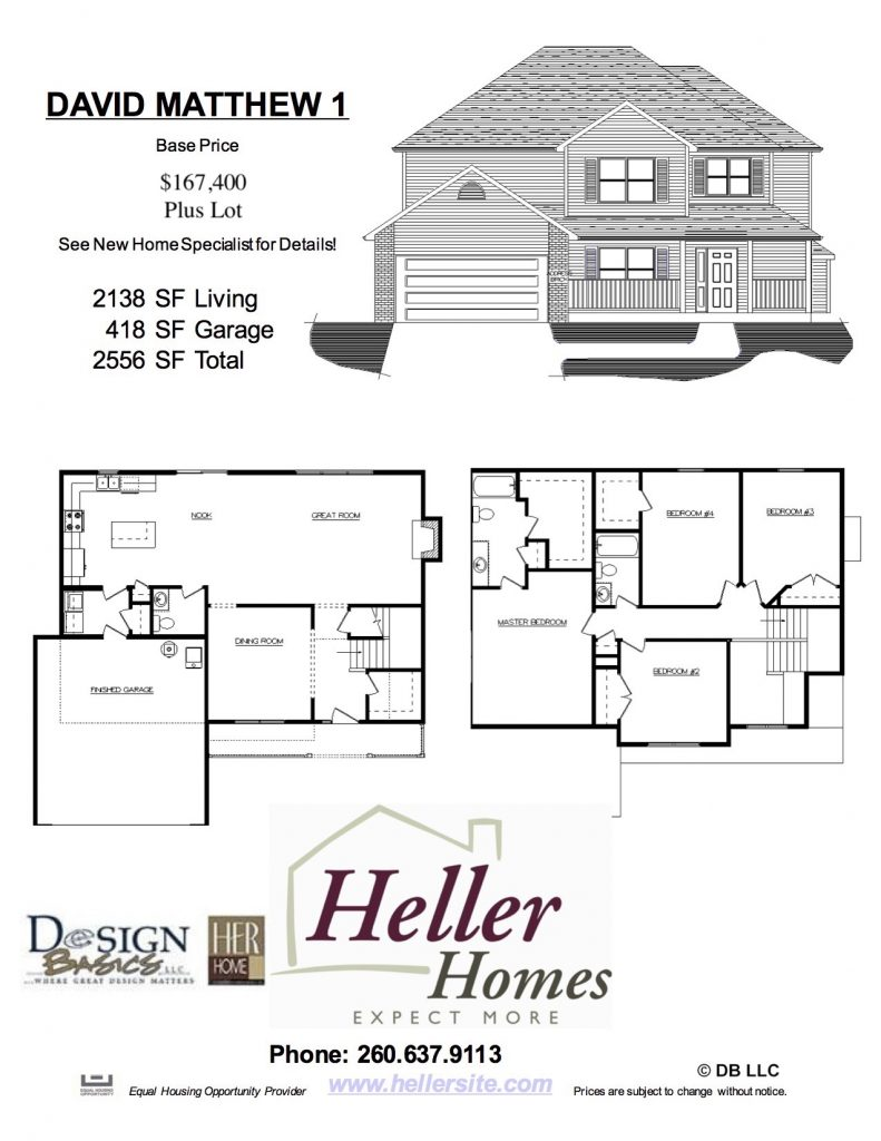 David Matthew 1 Handout - Heller Homes David Matthew 1 Floor Plan Handout