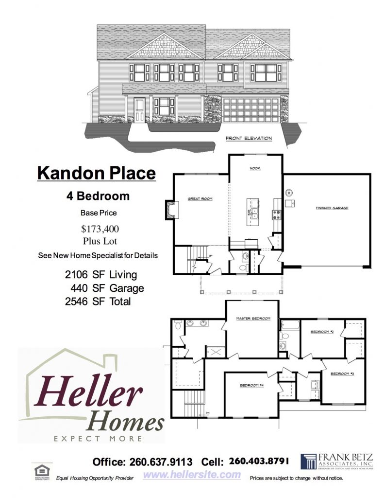 Kandon Place Handout - Heller Homes Kandon Place Floor Plan Handout