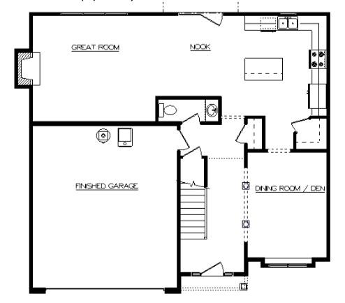 Addison First Floor - Heller Homes' Addison Floor Plan First Floor Layout
