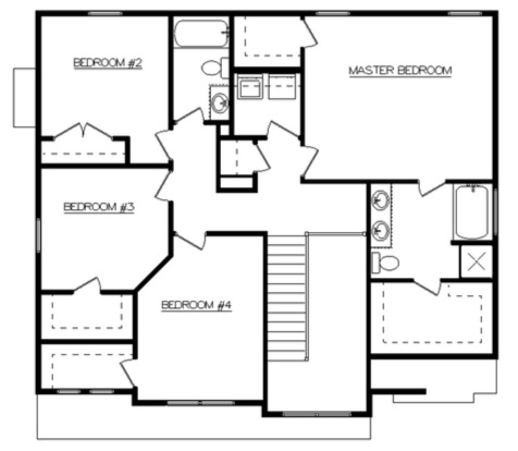 Addison Second Floor - Heller Homes' Addison Floor Plan Second Floor Layout
