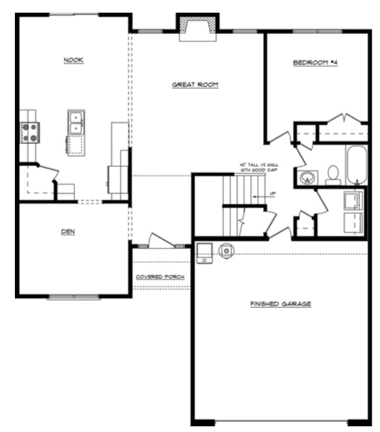 Allyson First Floor - Heller Homes' Allyson Floor Plan First Floor Layout