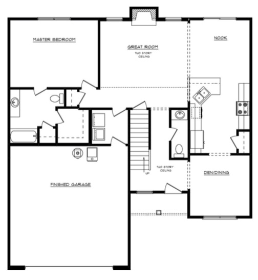 Joann Floor Layout - Heller Homes Joann First Floor Plan
