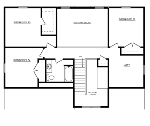 Joann Floor Layout - Heller Homes Joann Second Floor Plan