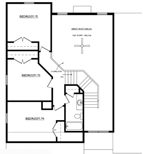 Leslie Floor Layout - Heller Homes Leslie Second Floor Plan