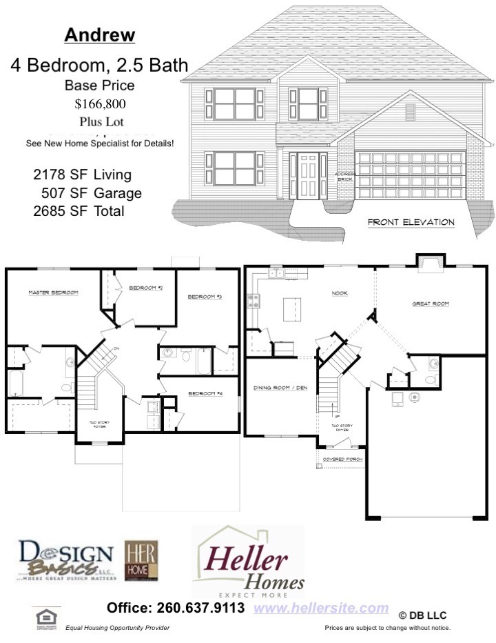 Andrew Handout - Heller Homes' Base Floor Plan Andrew Handout