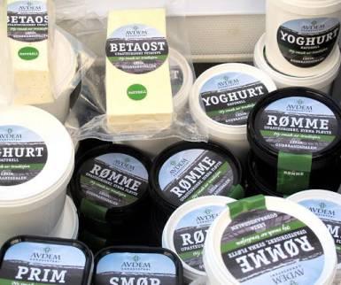 Yoghurt, rømme og smør