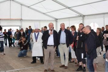 Presse og publikum tilstede i Ålesund.