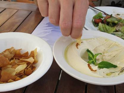 Hummus og Fatoush
