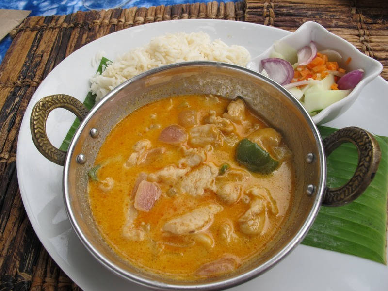 Kyllingcurry.