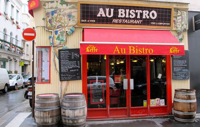 Bistroens fasade i rue marché st. Honoré.