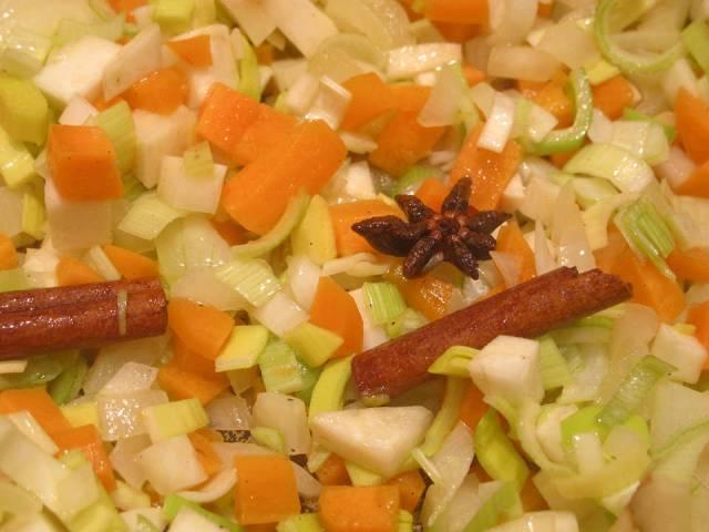 Grønnsaker i gryte