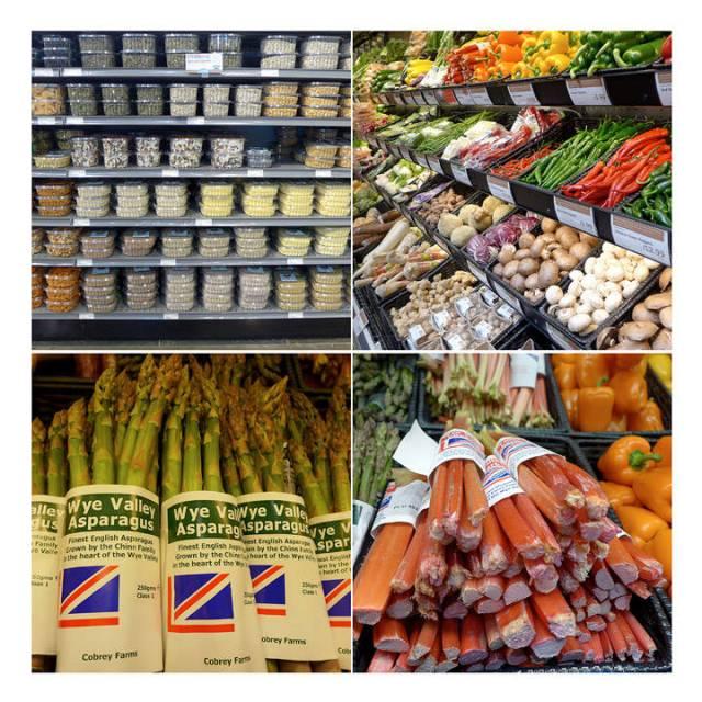 De første lokale asparges og rabarbra.