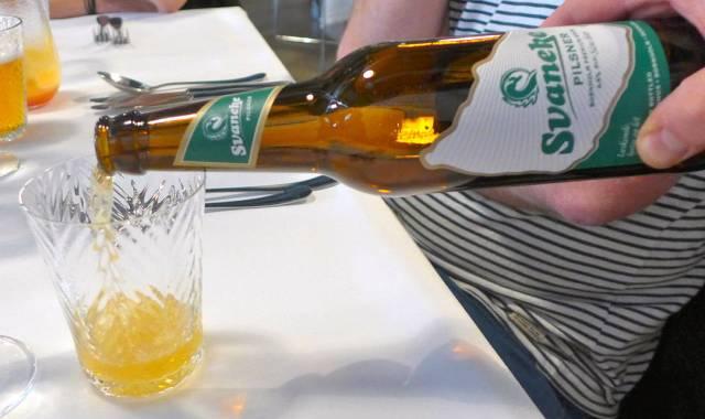 Første øl ut. Denne til første rett med salt torsk